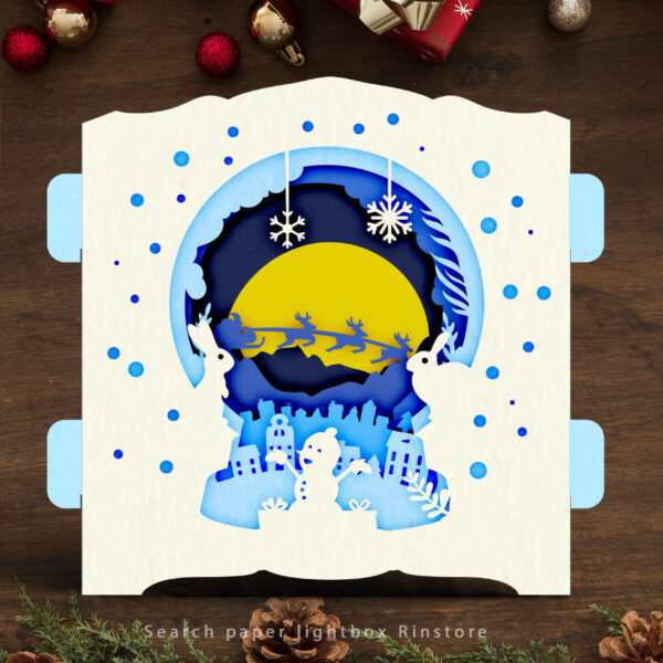 Xmas 3D Pop Up Card 3D Pop Up Card template Greeting Pop Up Card Birthday Card Anniversary Paper cut Template Pop-up Card 3D Pop Up DIY2